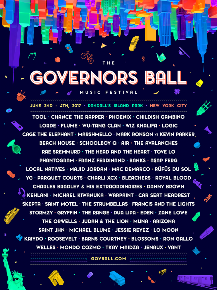 GB17 Admat Full Lineup RGB 170103 C1dbu1Ri 762x1016 Governors Ball Music Festival 2017 Lineup headliners Tool + Chance The Rapper