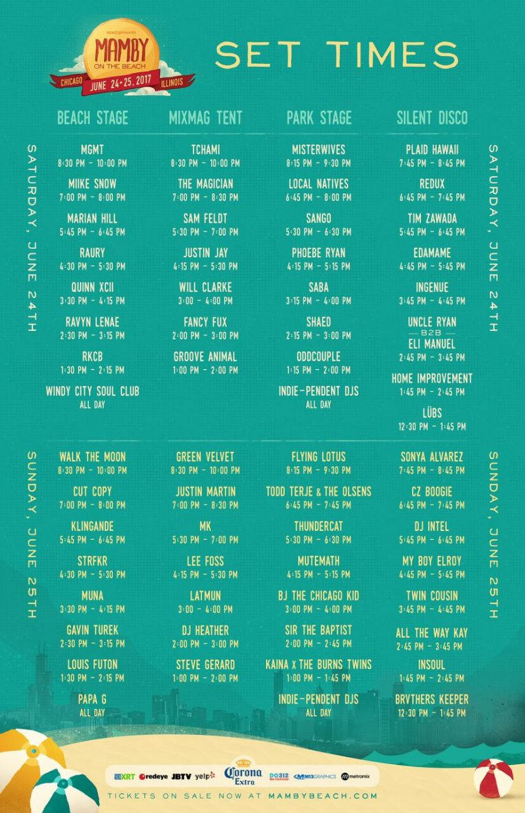Schedule full Mamby2017 762x1179 Mamby on the Beach announces 2017 lineup