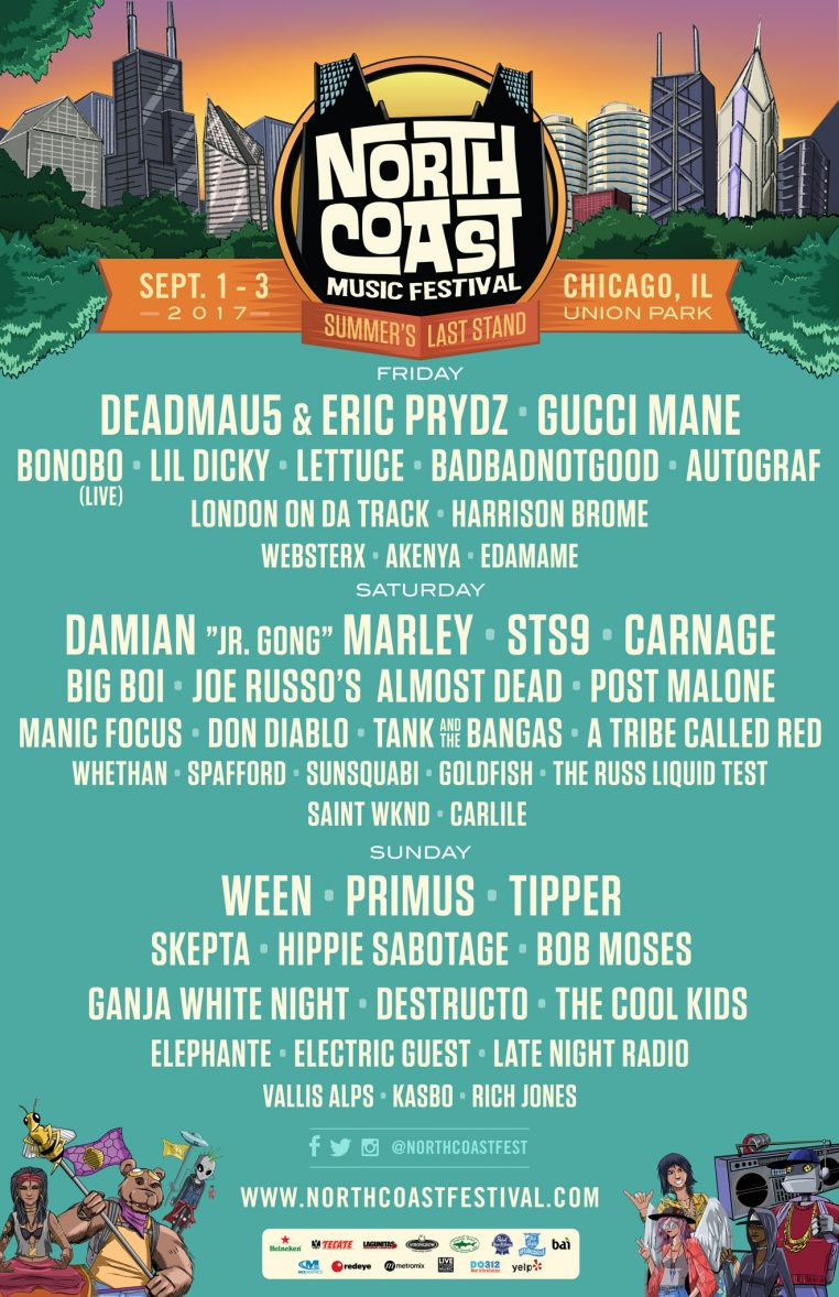NCMF Flyer B 762x1178 North Coast Music Festival 2017 feat: Gucci Mane, Carnage, Ween + More