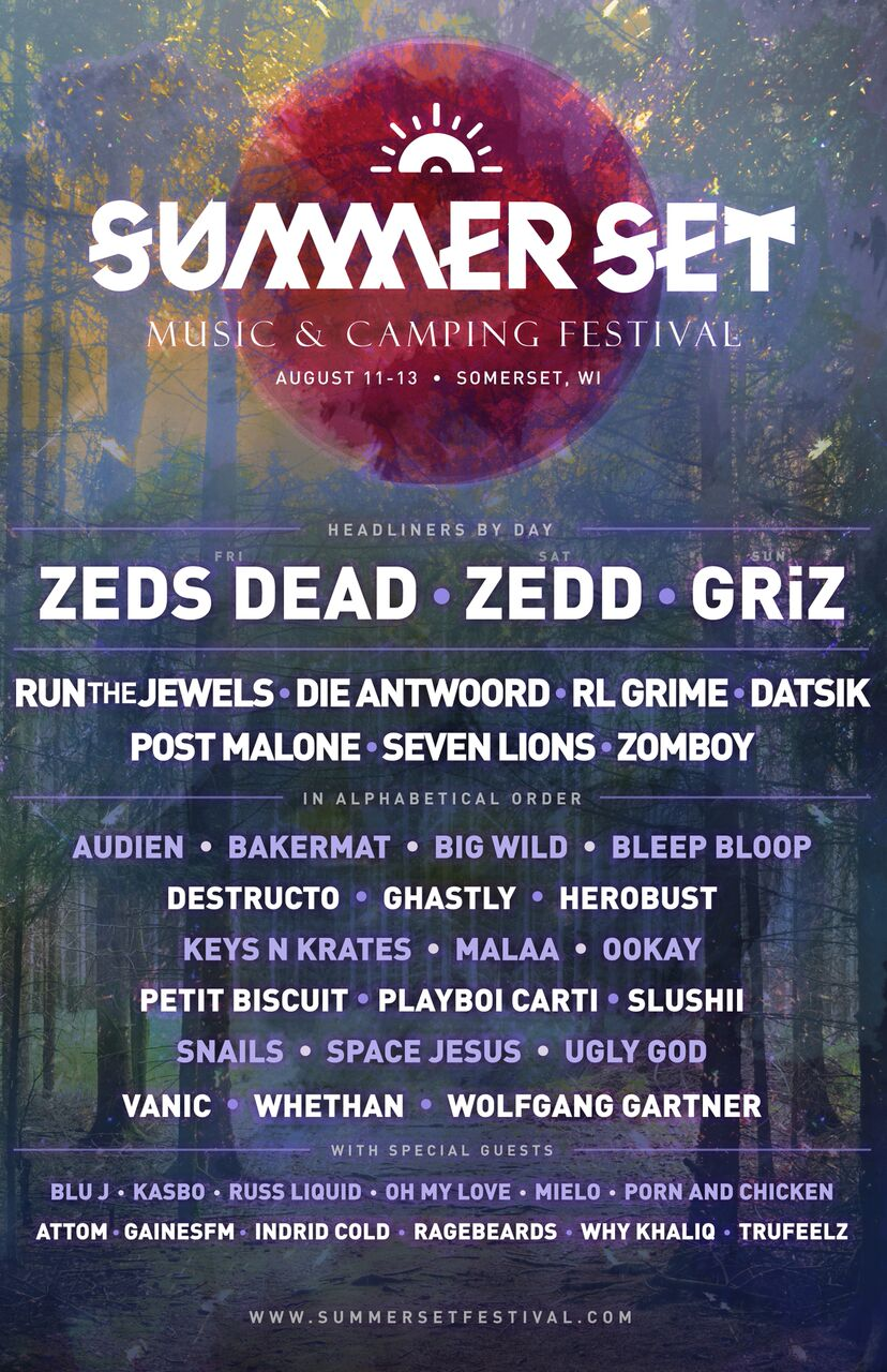 SummerSet2017 Summer Set 2017 lineup: Zeds Dead, GRiZ and Zedd to headline