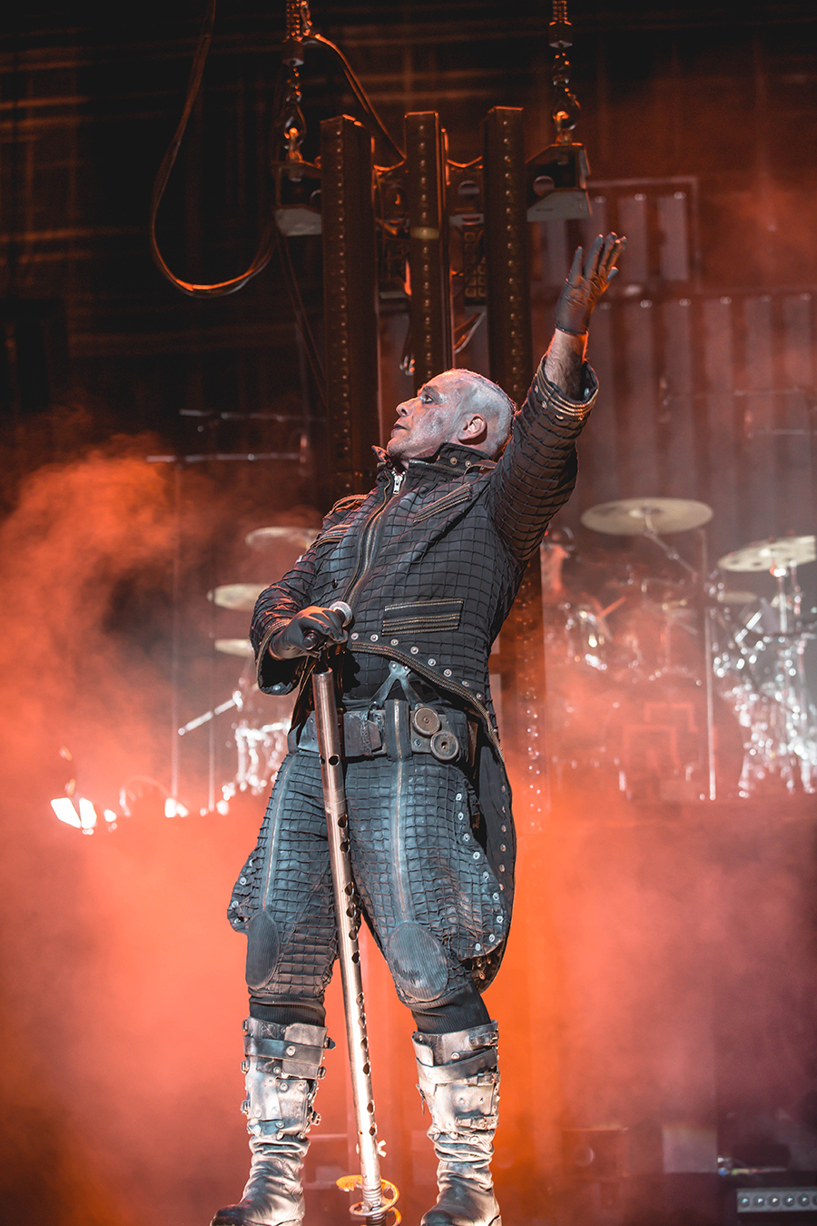 4I0A0358 Rammstein breaths fire into the crowd at Hollywood Casino Amphitheater