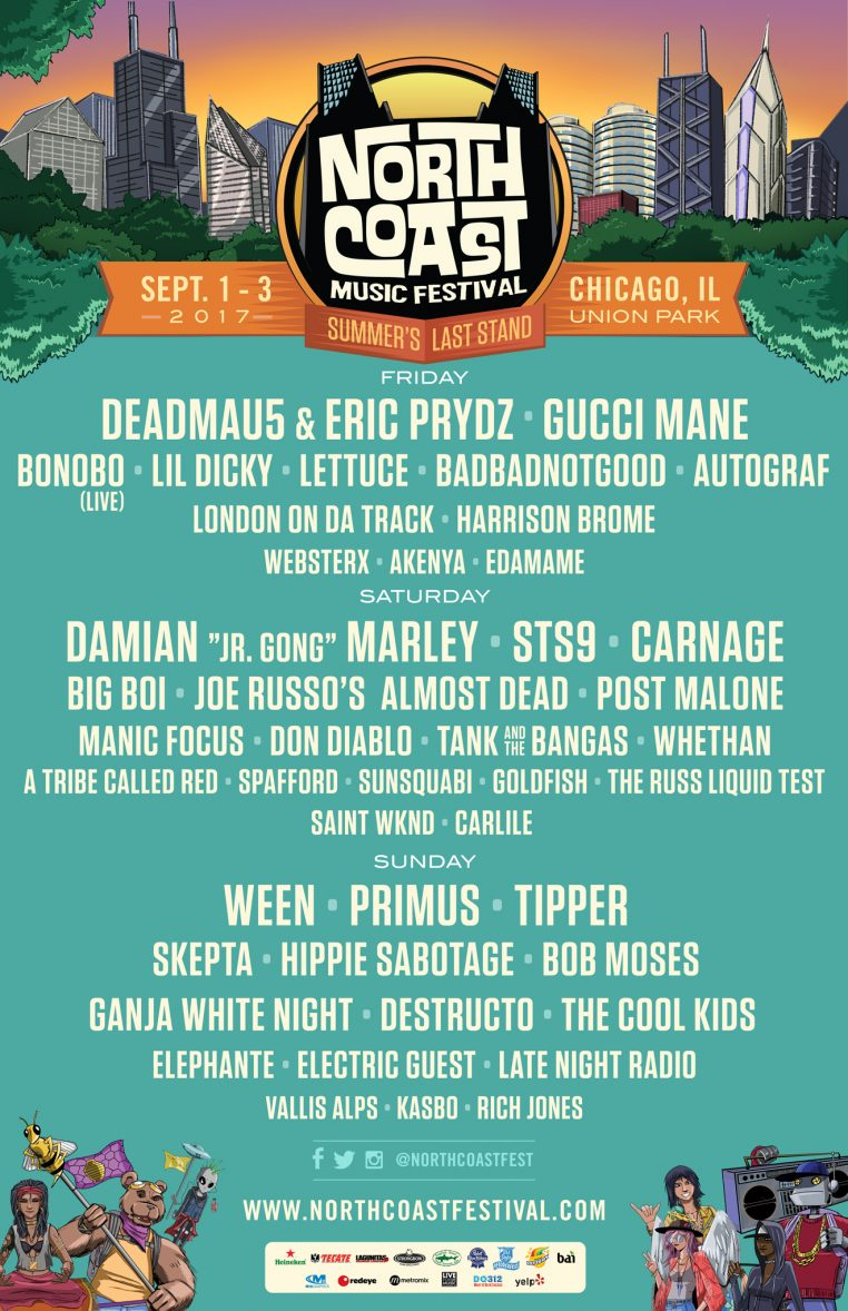 NCMF Flyer B Web 762x1178 Ticket Giveaway: North Coast Music Festival 2017 at Union Park