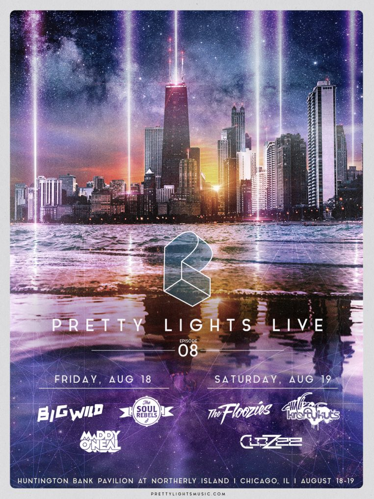 PL SiingleDays Chicago 762x1016 Ticket Giveaway: 4 Pack Pretty Lights at Northerly Island with The Floozies, Big Wild + More
