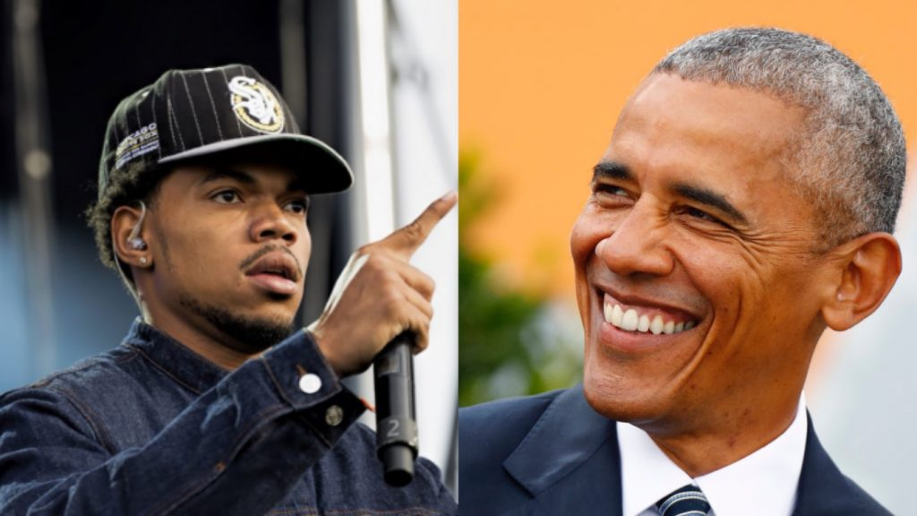 Chance The Rapper and President Obama