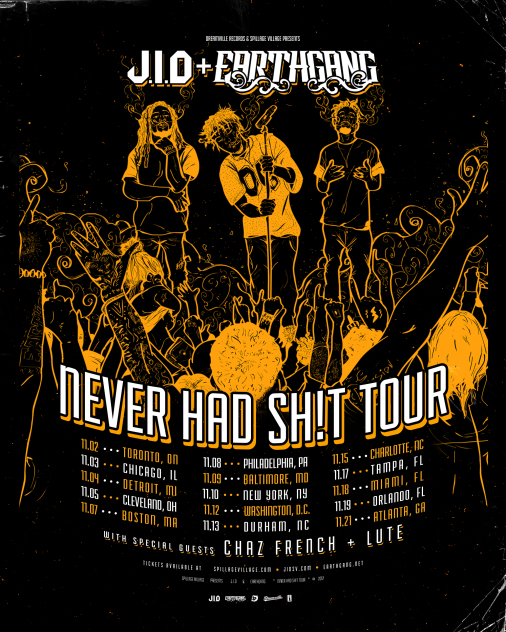 The Never Story Tour Flyer 506x632 J.I.D. and EarthGang Concert Tickets at Reggies