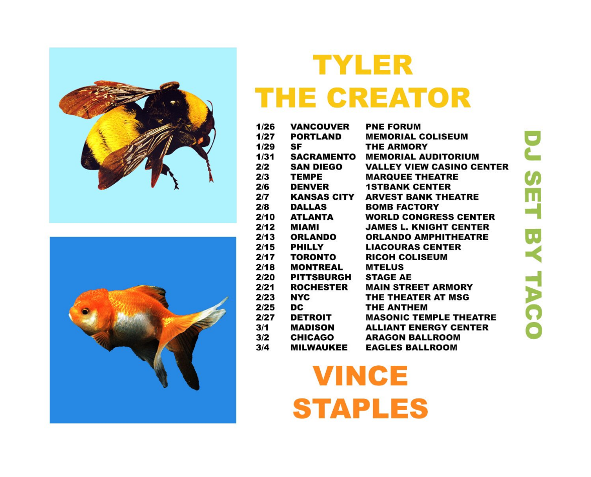 unnamed Tyler, the Creator Concert Tickets at Aragon Ballroom