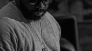 Calvin Rodgers at Reggies with Cory Henry March 9, 2018. Photo by Kevin Baker. Chicago, IL