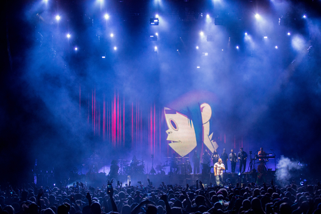 4I0A7814 Gorillaz The Now Now Tour at United Center show was a powerhouse of hits