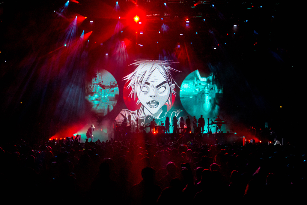 IMG 1181 Gorillaz The Now Now Tour at United Center show was a powerhouse of hits